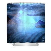 Blue Moon Sailing Shower Curtain