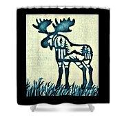 Blue Moose Shower Curtain