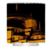 Blue Mosque At Night 02 Shower Curtain