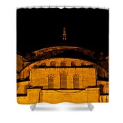 Blue Mosque At Night 03 Shower Curtain