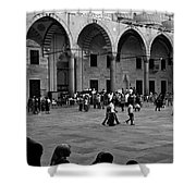 Blue Mosque Courtyard Shower Curtain
