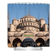 Blue Mosque Domes 01 Shower Curtain