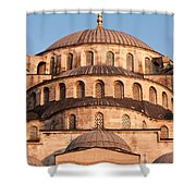 Blue Mosque Domes 02 Shower Curtain