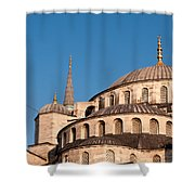 Blue Mosque Domes 07 Shower Curtain