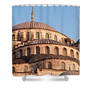 Blue Mosque Domes 09 Shower Curtain
