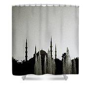 Blue Mosque Dusk Shower Curtain
