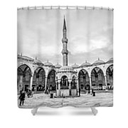 Blue Mosque Minaret Shower Curtain