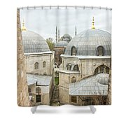 Blue Mosque View From Hagia Sophia Shower Curtain