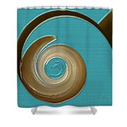 Blue Motion Shower Curtain