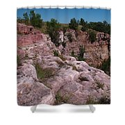 Blue Mounds Quarry Shower Curtain by James Peterson