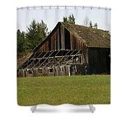 Blue Mountain Barn Shower Curtain