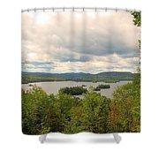 Blue Mountain Lake Shower Curtain