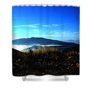 Blue Mountain Landscape Umbria Italy Shower Curtain