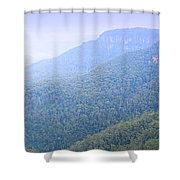 Blue Mountains Panorama Shower Curtain