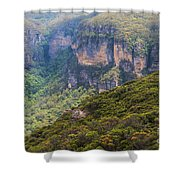 Blue Mountains Viewpoint Shower Curtain