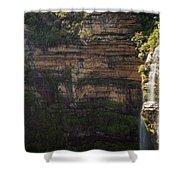Blue Mountains Waterfall Shower Curtain