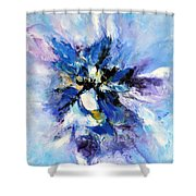 Blue Mystery Shower Curtain