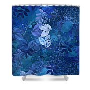 Blue - Natural Abstract Series Shower Curtain