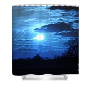 Blue Night Light Shower Curtain