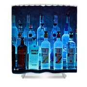 Blue Night Shadows Shower Curtain
