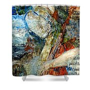 Blue Notes Shower Curtain