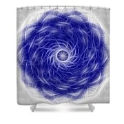 Blue Nova Shower Curtain