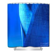 Blue On Blue Cropped Version Shower Curtain