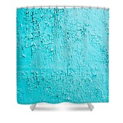 Blue Paint Background Grungy Cracked And Chipping Shower Curtain