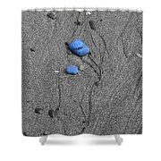Blue Pebbles Shower Curtain