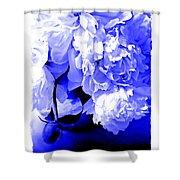 Blue Peony Shower Curtain