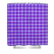Blue Pink And White Plaid Cloth Background Shower Curtain