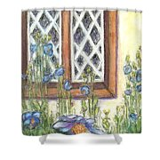 Blue Poppies Of Luss Shower Curtain