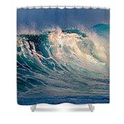 Blue Power. Indian Ocean Shower Curtain