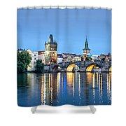 Blue Prague Shower Curtain
