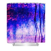 Blue Purple White Metal Shower Curtain