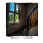 Blue Rail Shower Curtain