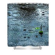 Blue Rain - Featured 3 Shower Curtain by Alexander Senin