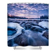 Blue Rapids Shower Curtain by Davorin Mance