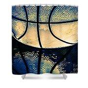 Blue Basketball Shower Curtain