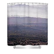 Blue Remembered Hills Shower Curtain