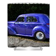 Blue Restored Willy Car Shower Curtain