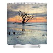 Blue Reverence Charleston Sc Ocean Sunrise Shower Curtain
