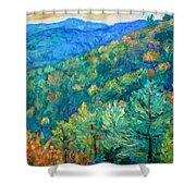 Blue Ridge Autumn Shower Curtain