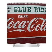 Blue Ridge Coca Cola Sign Shower Curtain