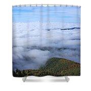 Blue Ridge Fog Shower Curtain
