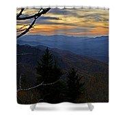 Blue Ridge Last Light Shower Curtain