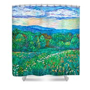 Blue Ridge Meadow Shower Curtain