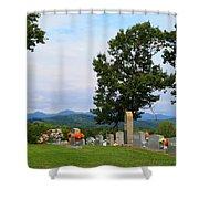 Blue Ridge Mountain Cemetery Shower Curtain