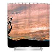 Blue Ridge Mountain Sunrise Panoramic  Shower Curtain