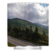 Blue Ridge Mountains And Blue Ridge Parkway Shower Curtain